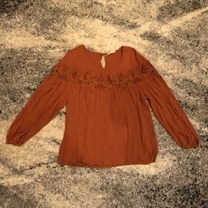 Black Swan Rust Colored Top